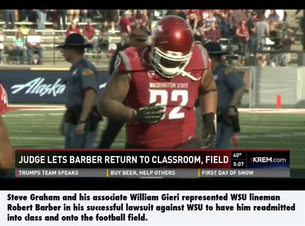 WSU expulsion lawyer Robert Barber